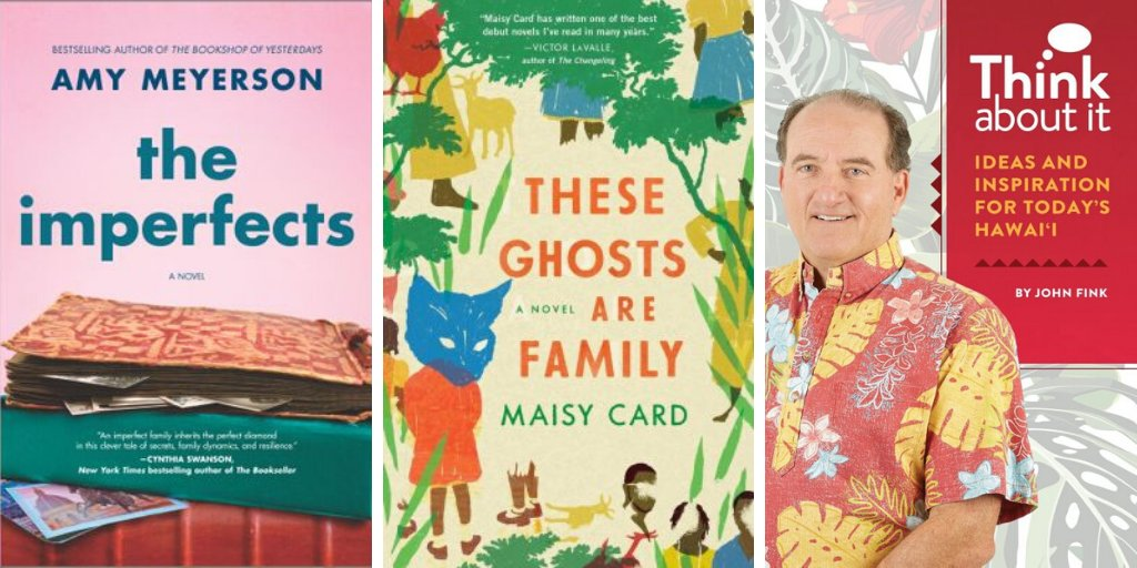test Twitter Media - Looking for a new book to read? Consider one of these titles by @wes_alumni: 📚 The Imperfects by @amy_meyerson '04 📚 The Ghosts are Family by Maisy Card '04 (@dracm) 📚 Think About It: Ideas and Inspiration for Today's Hawai'i by John Fink '77  More: https://t.co/3DgC9mr2G4 https://t.co/BdZp2x3qLo