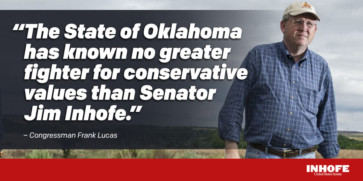 Thank you Congressman Lucas for your kind words. Proud to represent the citizens of Oklahoma alongside you and excited for the future of our great state.