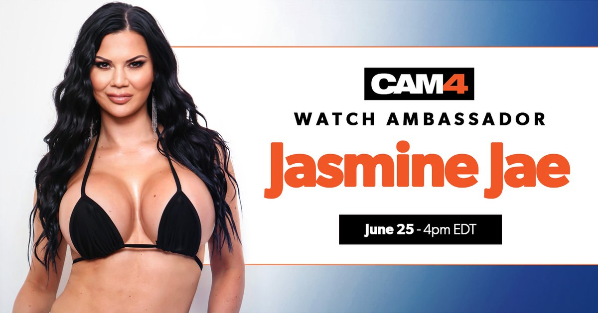 Our favourite Brit and #CAM4Ambassador @jasminejaexxx is BACK this Thursday June 25th at 4pm EDT/9pm BST for some more filthy fun!!! #CometoCAM4