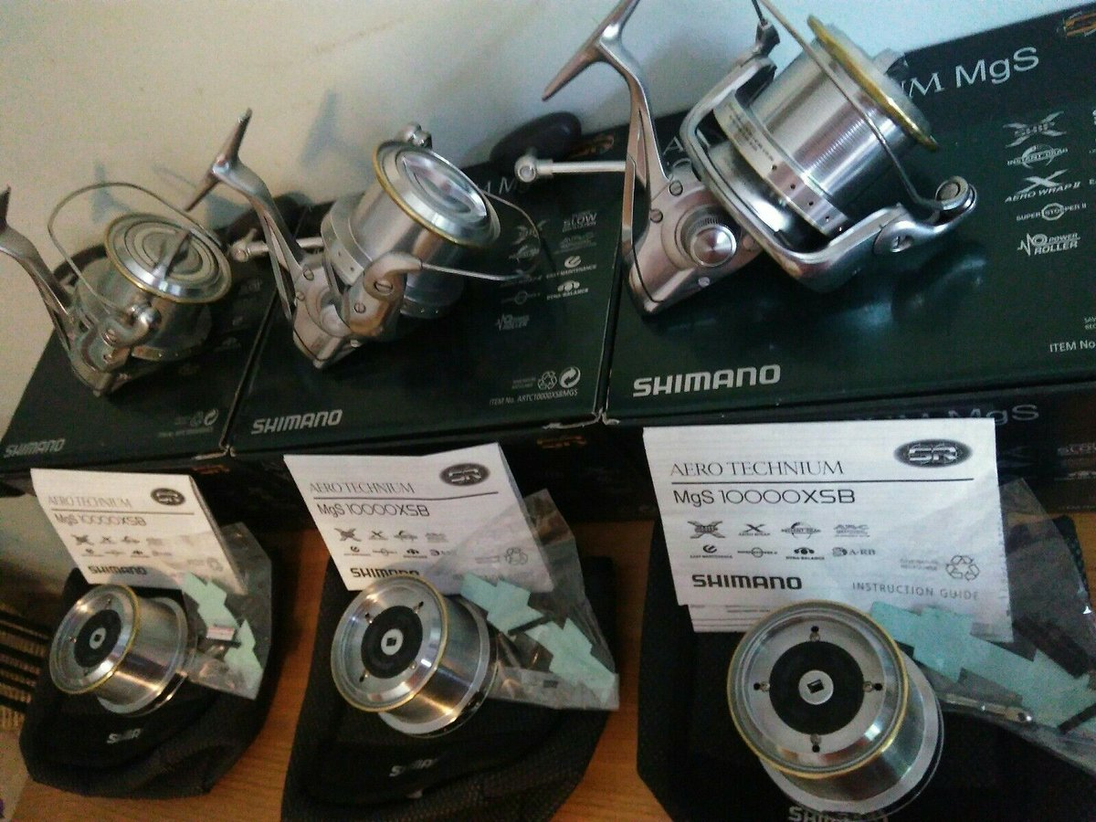 Ad - Shimano Aero Technium MgS 10000XSB x3 On eBay here -->> https://t.co/rK3Oucgr3z  #carpfis