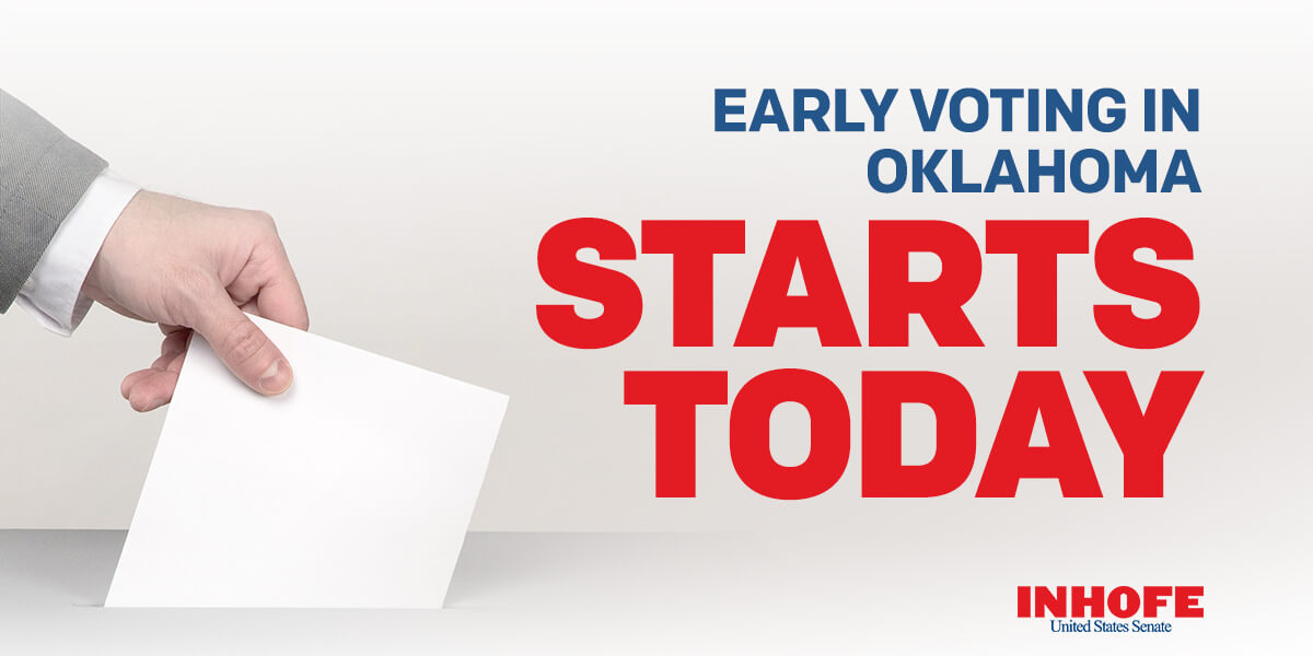 Oklahomans, get out and vote! The future of our great country depends on it. Click here to find your early voting polling place: