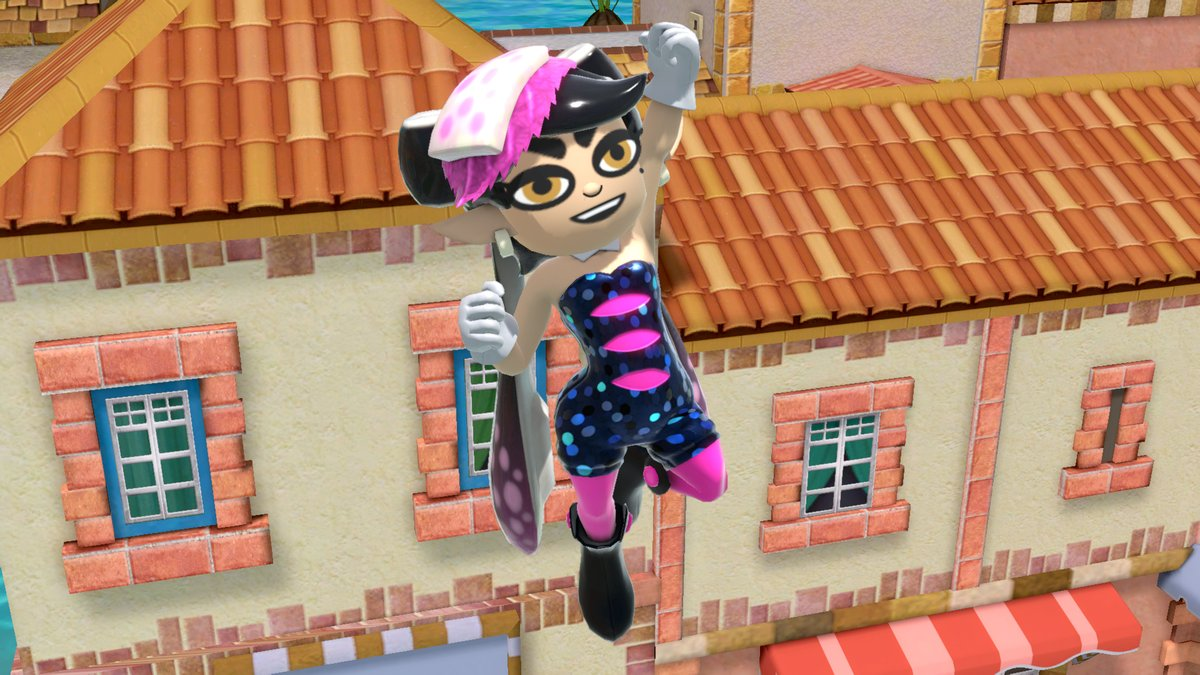 Booyah! The Squid Sisters Mii Fighter costumes arrive in #SmashBrosUltimate on 6/29. Play as the Brawler type with Callie, or the Gunner type with Marie!