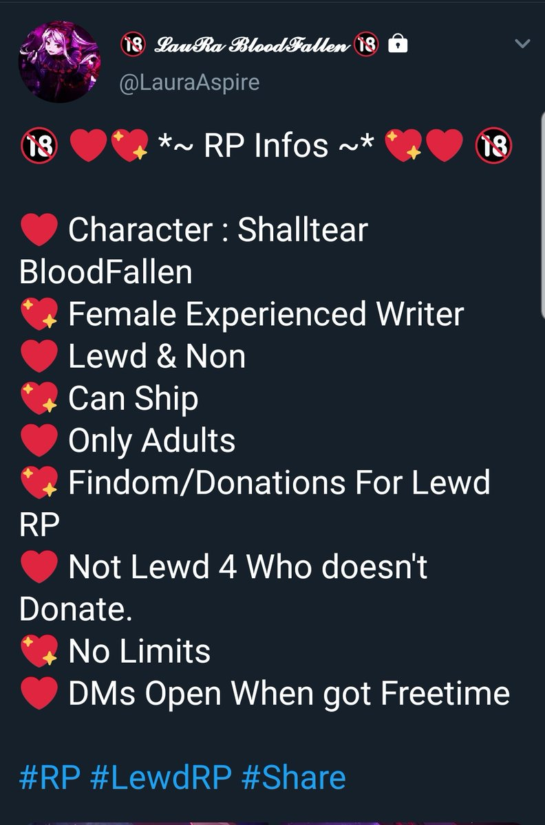 //Converted my Real Life Profile into a RP Account, feel free to send a Follow request, I'll accept anyone asap! ❤   Acc : @LauraAspire   #LewdRP #RP #overlord_anime #Anime #OverlordRP #ShalltearBloodfallen #Shalltear #Vampire #Sexy #Adults #Hot #Lewd #XXX #Findom #Roleplay