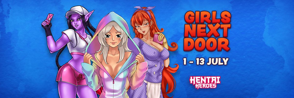 🛋️ Until the 13th (1 pm UTC+2) of July,  get your neighborly competitivity on high alert, hero! 😍 Warn the watch: Neighbourly Chamelea, Ice Cream Vendor Deniz, & Clerk Delicia are missing. Go and save them from Donatien, Silvanus, and Bremen. 🗝️ #lewd #anime #manga #waifu