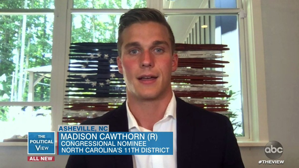 "North Carolina GOP congressional candidate @CawthornforNC tells us the accident that left him paralyzed from the waist down taught him ""a level of grit and perseverance.""  ""It taught me something I think is lacking a lot on the Republican side in politics, and that's empathy."""
