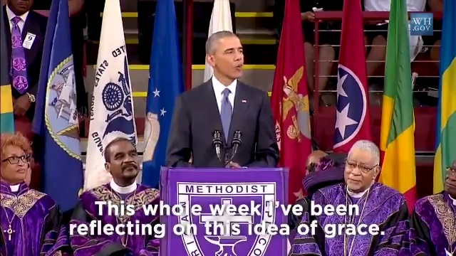 In the afternoon of June 26, 2015, @BarackObama traveled to Charleston to eulogize Reverend Pinckney after a racist shooting at Mother Emanuel AME church. President Obama began to speak of grace. Then he sang. Go behind the scenes of this moment in part two of our series.