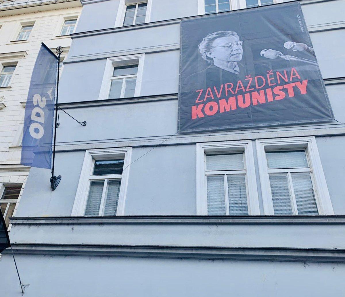 RT @SmolkaVa: I na budově hlavní kanceláře ODS si připomínáme #MILADA70 https://t.co/XvmhjAUPIt