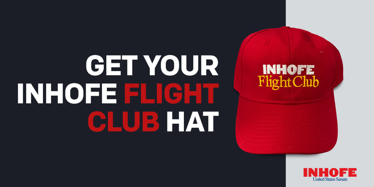 Get your Inhofe hat today!. Show your support for Team Inhofe.
