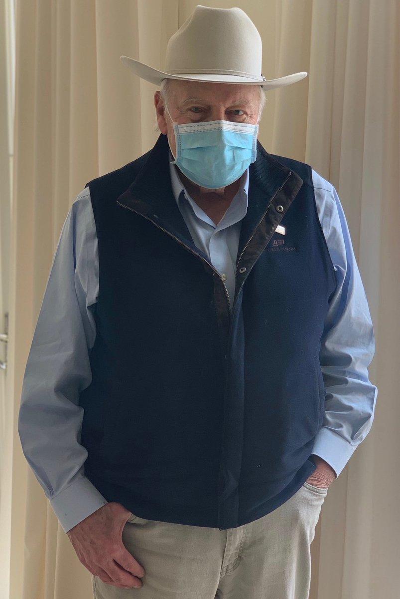 Dick Cheney says WEAR A MASK. #realmenwearmasks
