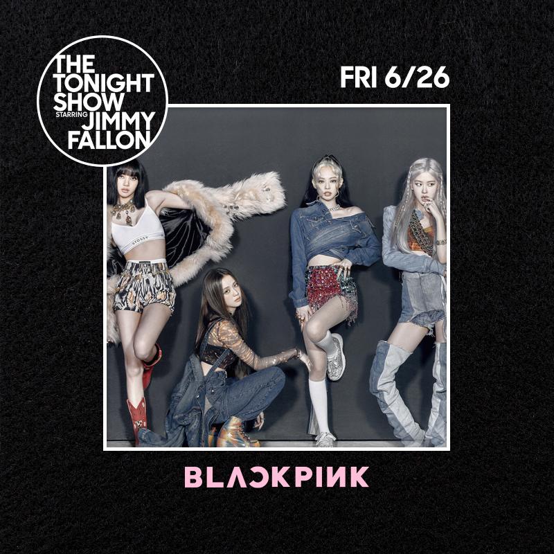 #BLACKPINK @fallontonight  Tonight at 23:35/22:35c on @NBC @FallonTonight   #TheTonightShow #JimmyFallon #블랙핑크