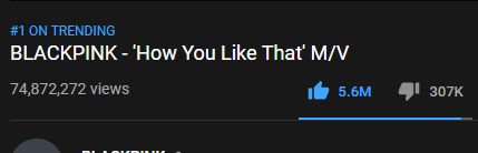 #HowYouLikeThat is now the most viewed MV on YouTube in a 24 hour period with 74,827,272 views after 21 hours and 27 minutes!    #BLACKPINK @ygofficialblink