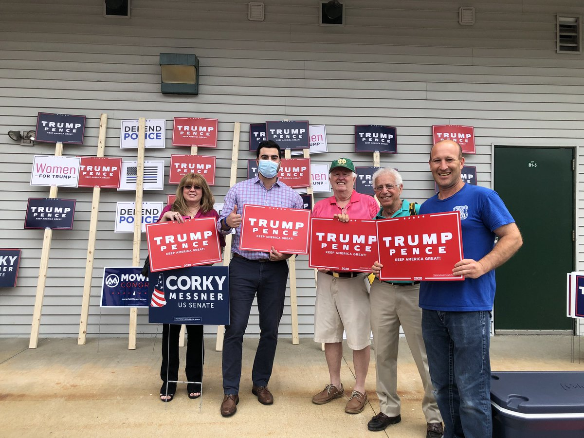 What a way to open up @NHTrumpVictory HQ this morning!  Thank you @CLewandowski_, @CorkyForSenate & @mowers for firing up our grassroots supporters🔥  Together, we're going to bring home 4️⃣ electoral votes for @realDonaldTrump in November! 🇺🇸 #LeadRight #nhpolitics #FITN