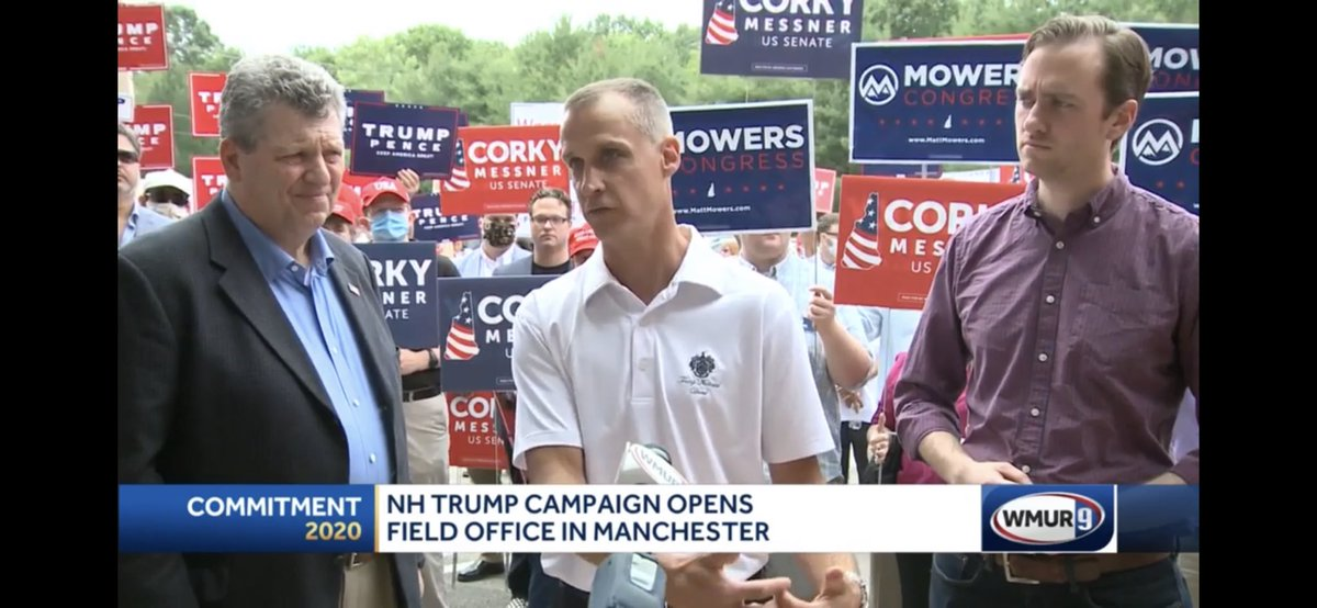 """There are only a few real battleground states in the country. New Hampshire is one of those, and it's a place where we know the core principles of what Donald Trump has talked about – smaller government, lower taxes, less regulation, strong military.""   #nhpolitics #LeadRight"