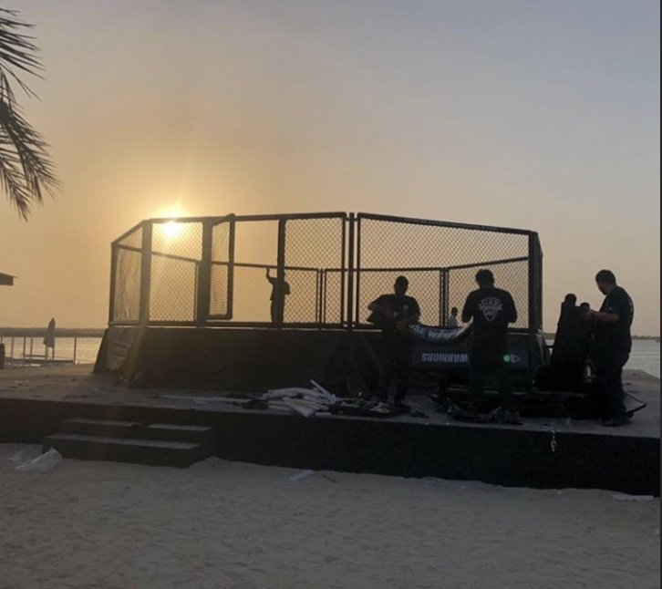 "Dana White posted this photo of ""Fight Island"" (Yas Island, Abu Dhabi) on Instagram. If that's how the July events really look like, that's pretty cool."