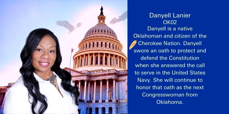 Danyell Lanier is a Dem running for #OK02 seat in the House.   She will  work hard to protect OK land, water and clean air.  Danyell will fight for affordable healthcare, criminal justice, police reform and jobs in her district.  See her platform @danyell_lanier   #BLUEDOT #ONEV1