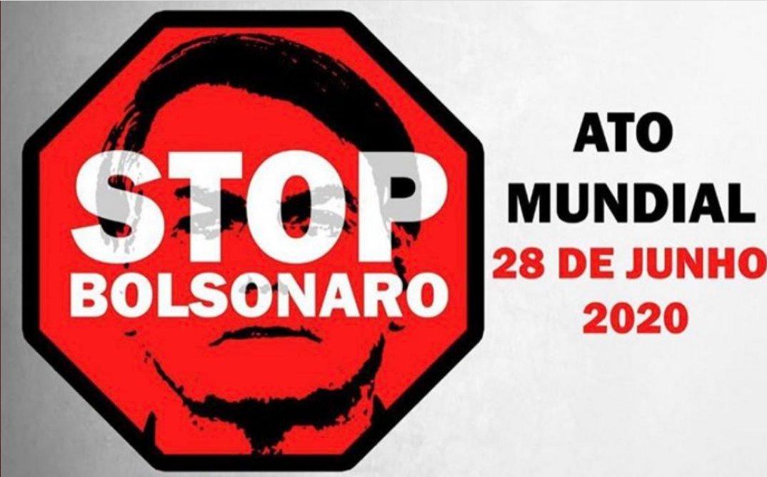 #StopBolsonaroMundial   Entidades internacionais promovem o ato Stop Bolsonaro pelo mundo, já confirmados 24 países e 70 cidades, e precisamos chegar ainda mais longe, fazer a nossa parte. Divulguem para o maior número de pessoa #StopBolsonaroMundial