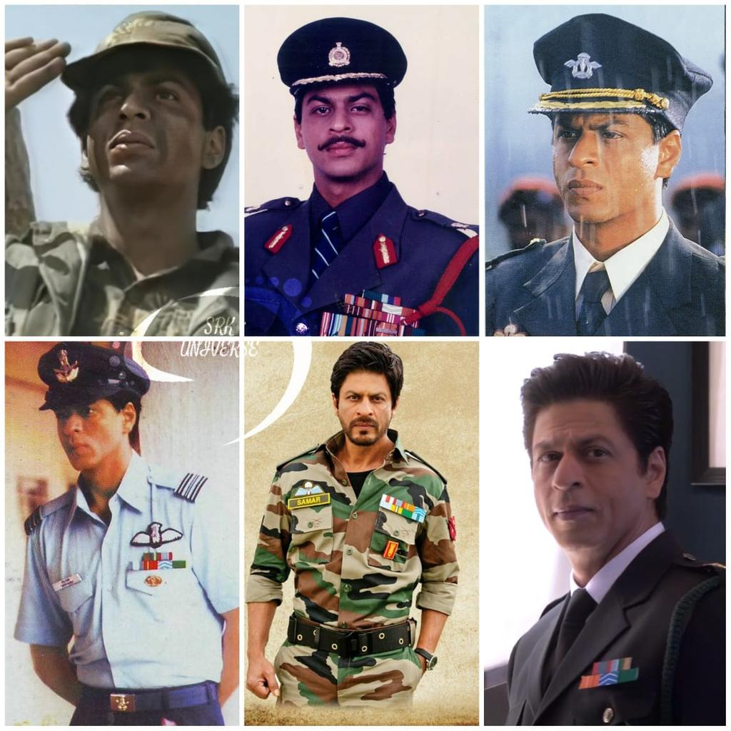 #ShahRukhKhan as an Army Official over the years 🎖 #24YearsOfArmy