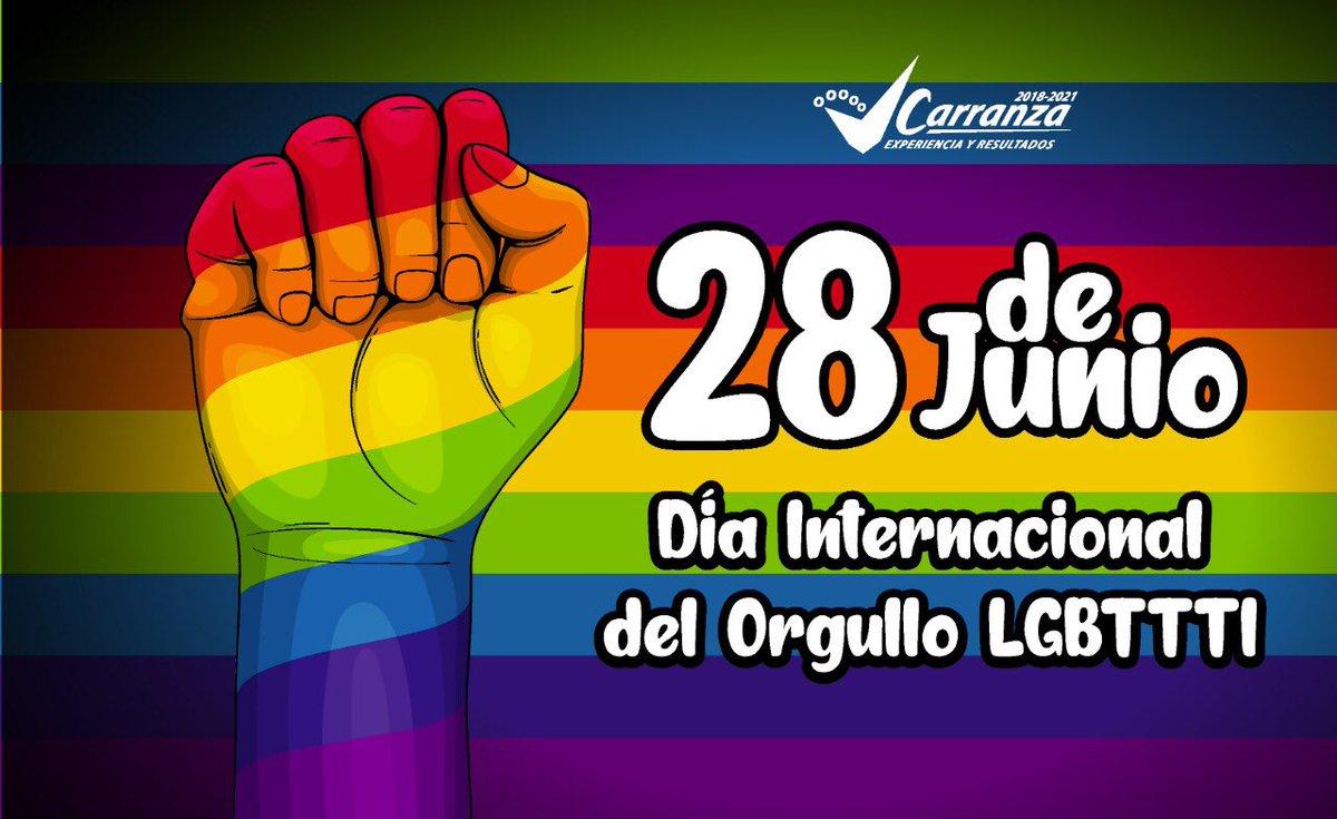 El Día Internacional del Orgullo #LGBTTTIQ🏳️🌈 es para conmemorar la lucha por los derechos de todas las personas, por una sociedad libre de violencia y discriminación. Reflexionemos sobre el respeto y la diversidad.   @Claudiashein @GobCDMX  #SomosVCarranzaInclusiva #FelizDomingo