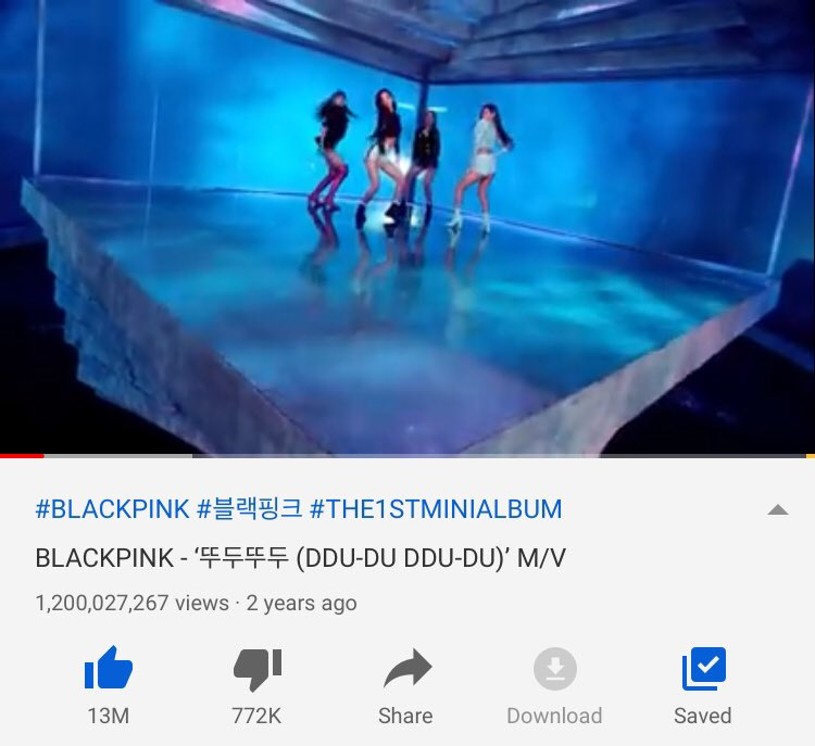 #BLACKPINK 'DDU DU DDU DU' has now surpassed 1.2 BILLION VIEWS on YouTube!🥳  @ygofficialblink @BLACKPINK