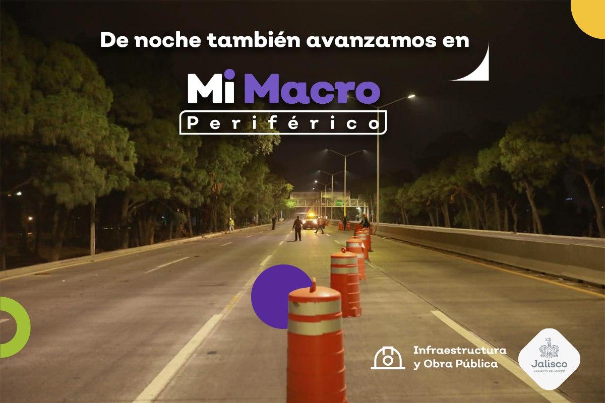 🚘 Las obras de #MiMacro Periférico también suceden en horario nocturno con el fin de causar las menores molestias posibles a quienes deben salir a trabajar.  Todos en Jalisco hacemos lo que nos toca para cuidar tu salud y reactivar gradualmente la economía. Contamos contigo.