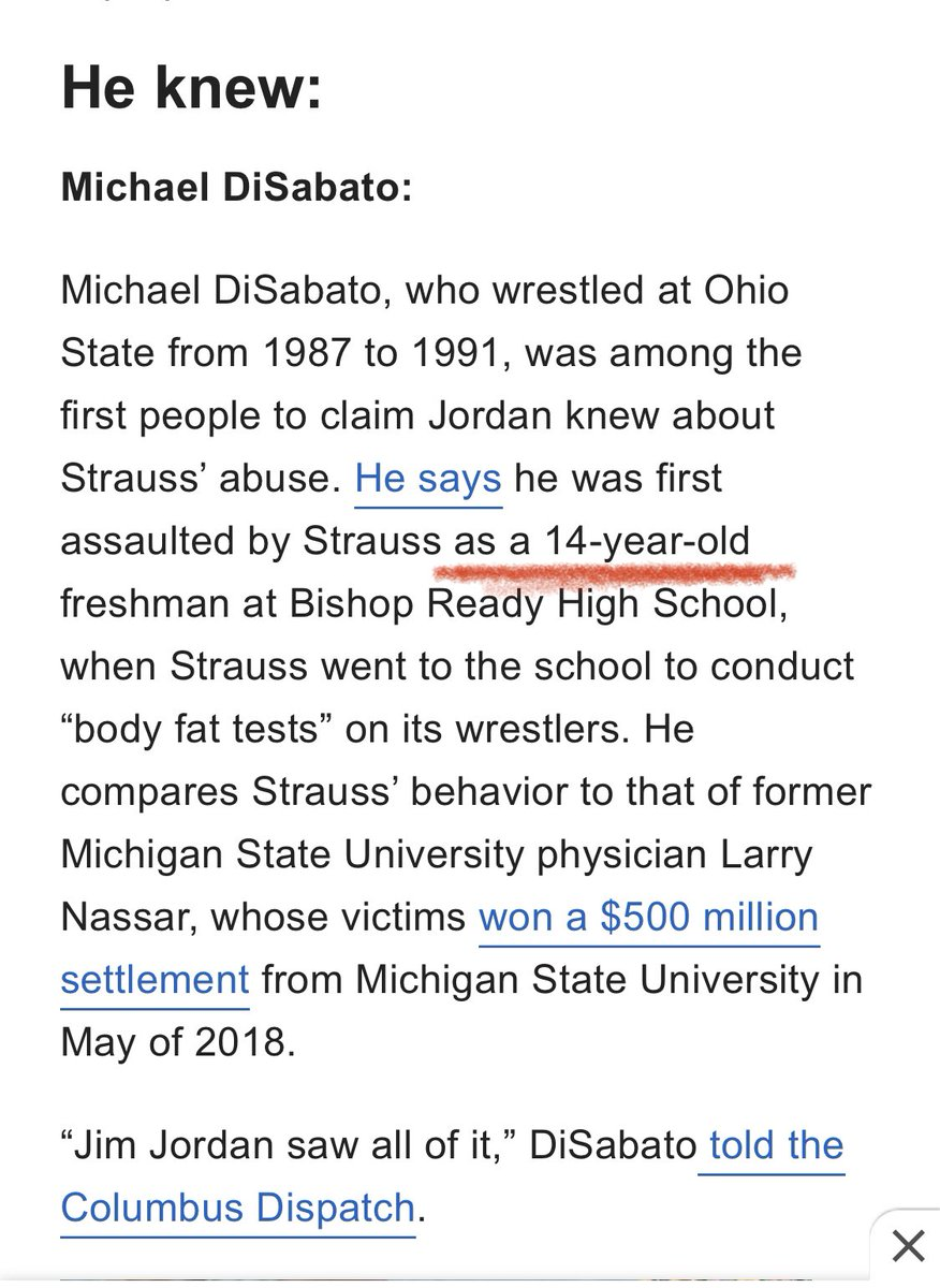 @Jim_Jordan Jim Jordan allowed boys to be raped at Ohio State.