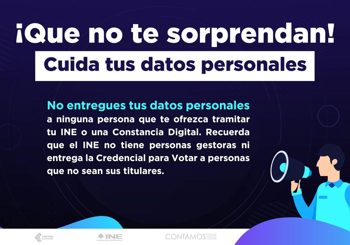 ⚠️ Que no te engañen. Todos los trámites del @INEMexico son gratuitos.  #30AñosINE