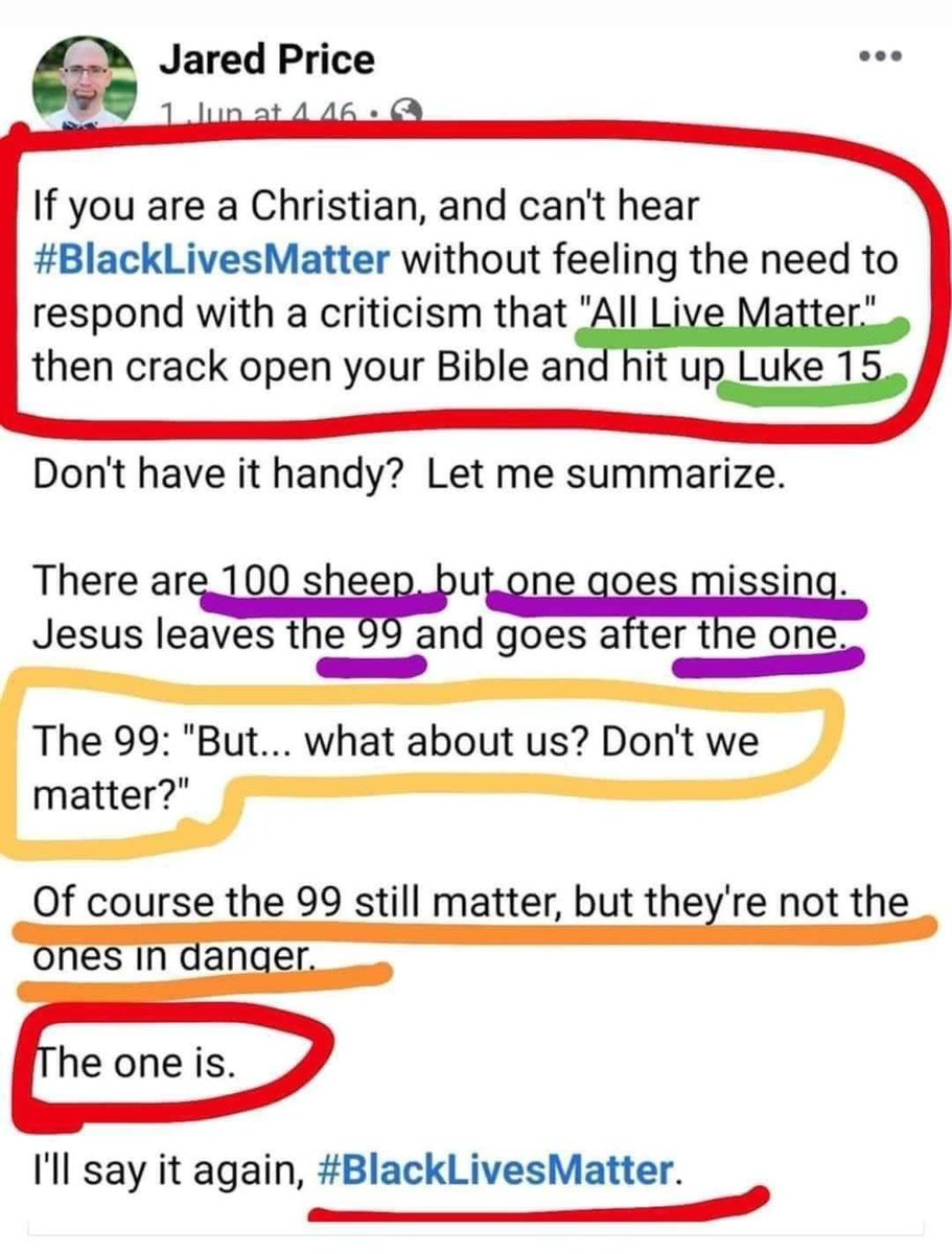 """For all of my """"All Lives Matter"""" Christians:"""