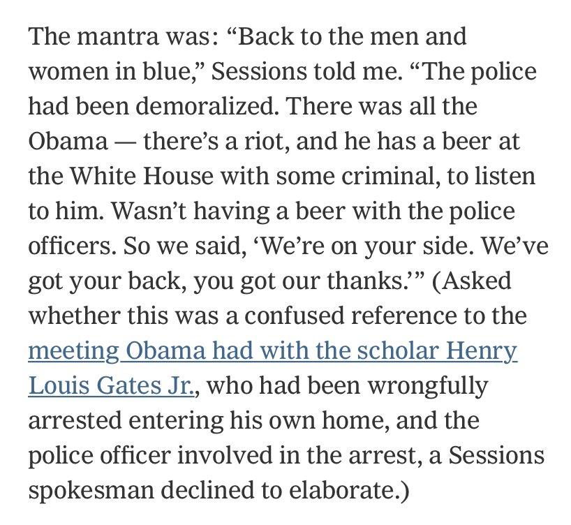 "Is there a way to read this in which Jeff Sessions is not writing off one of nation's — the world's — leading black scholars as ""some criminal""?"