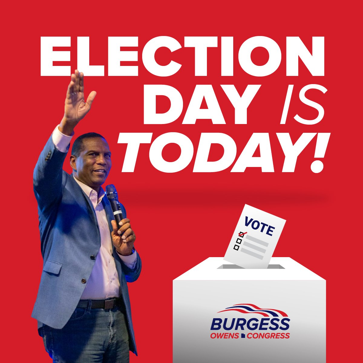 Today is the day! Be sure to get your ballots in if you have yet to vote and LET'S WIN THIS THING! #UT04