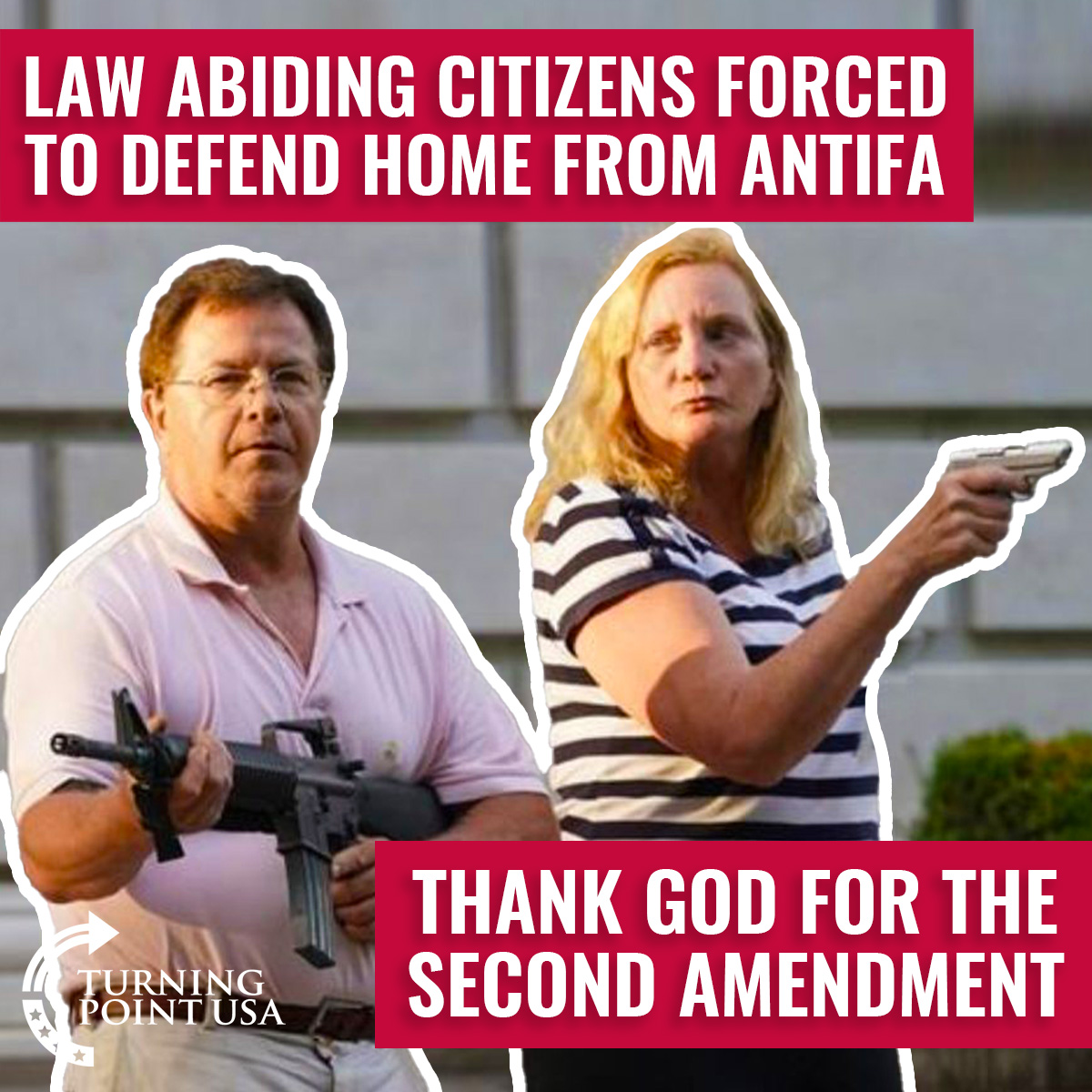 MUST WATCH! Insane Protesters Get A Wake Up Call When This Couple Actually Defends Their Home... Thank God For The 2A! 🇺🇸 #GunsSaveLives