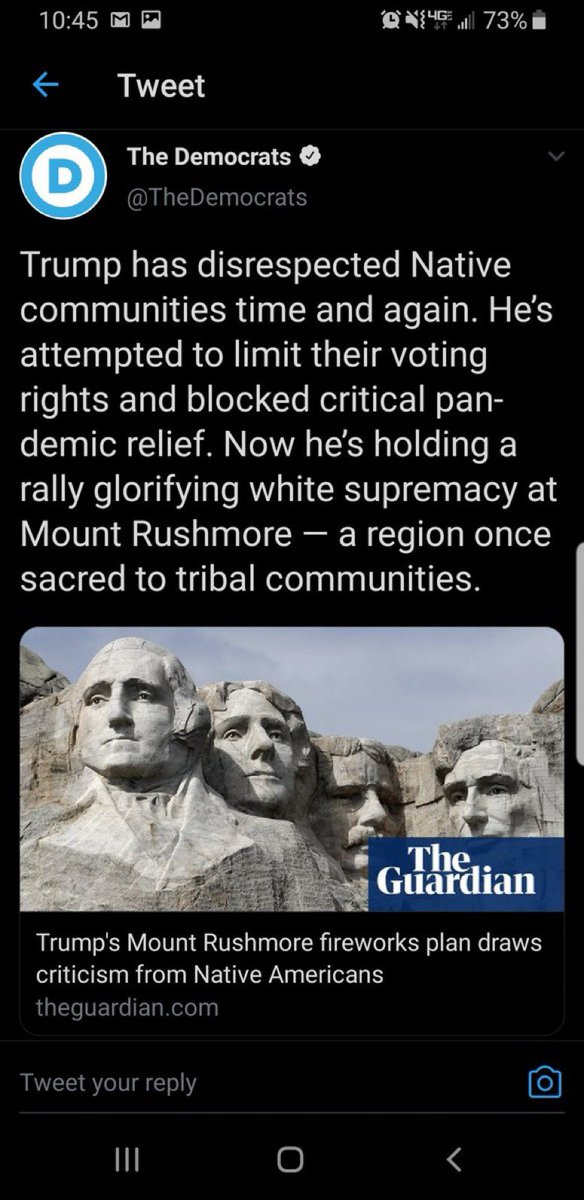 This is the official twitter account of the Democratic National Committee, stating that Mount Rushmore is racist.  Not fringe activists.   The Democrat Party.   It has been wholly infiltrated and corrupted by radical leftists.