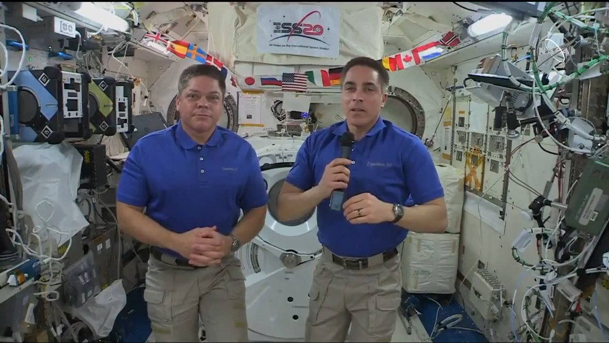 Last week, @Astro_SEAL and @AstroBehnken stayed 2 hours ahead of their spacewalk timeline, working with speed and precision. Tomorrow, they'll float out to finish the work they started. Listen as Chris Cassidy explains how it happened on the first time the duo suited up together.