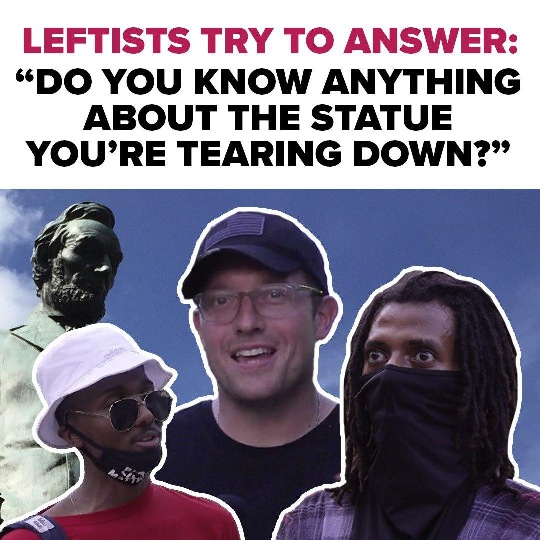 This is just SAD. The Angry MOB is tearing down statues across the Country... but WHY?  @bennyjohnson  visits The Emancipation Statue in DC to find out if they know ANYTHING about this Lincoln Statue  This really is heartbreaking to watch...