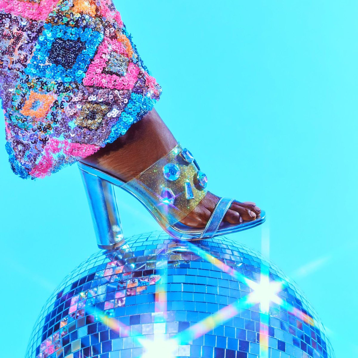 Ignite the (disco) light & let it shine for your 4th of July lewk 🎆🎇 dont forget that 10% from the sale of every shoe and handbag from the @kpcollections website will go to @PointFoundation to support their efforts in empowering more BIPOC LGBTQ+ students #shoesdaytuesday