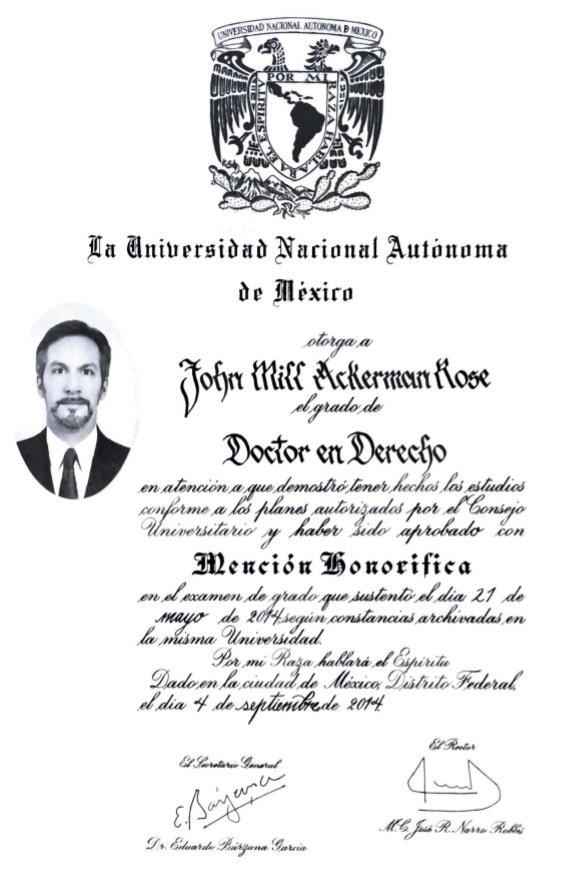 Les agradezco el interés en mi formación académica, pero no sean ridículos🤷🏾♀️  Tengo DOS doctorados plenamente acreditados, uno en Sociología Política por @UCSC y otro en Derecho por la @UNAM_MX.  SNI III @Conacyt_MX  PRIDE D @UNAM_MX  Profesor @sciencespo @SorbonneNews @AmericanU