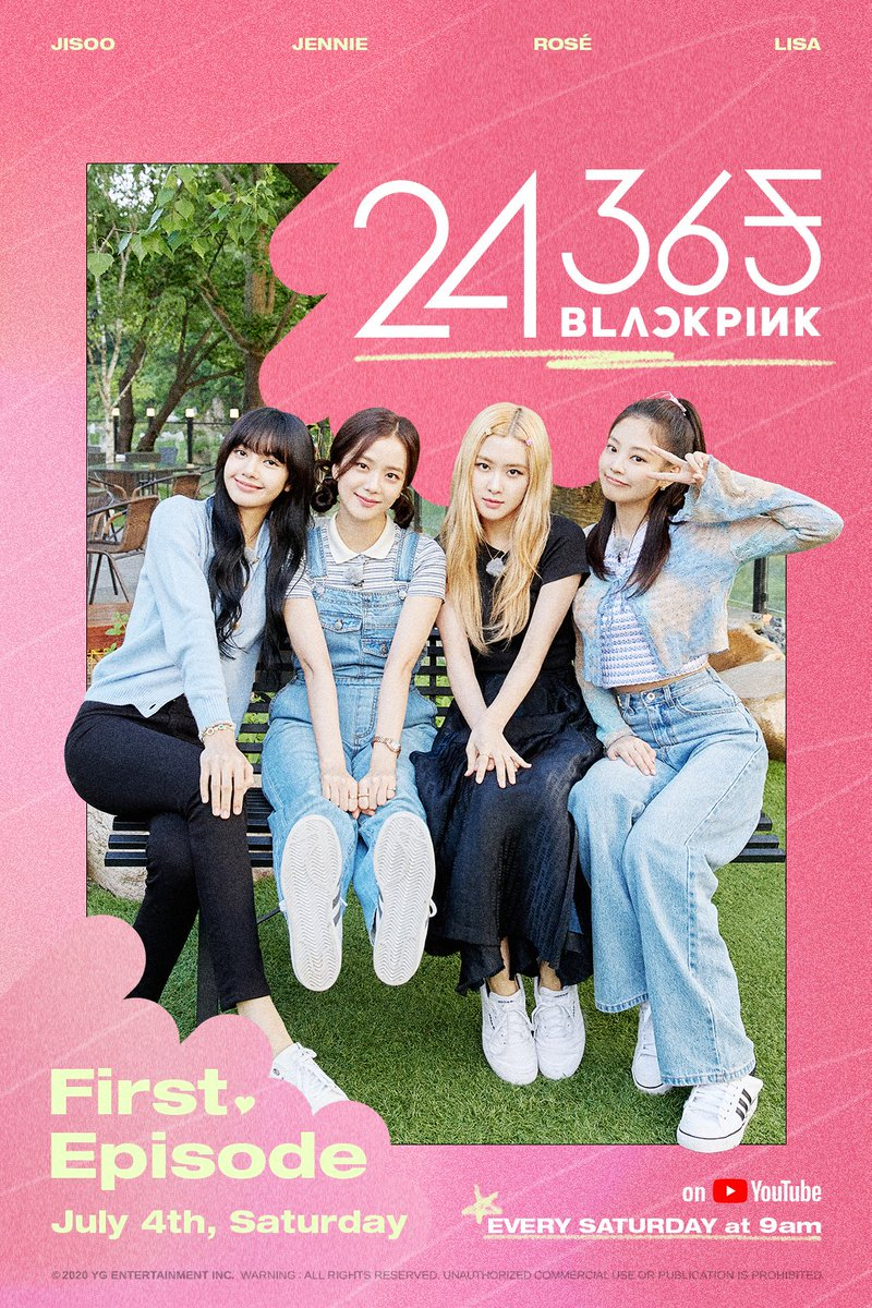 #BLACKPINK '24/365 with BLACKPINK' EP.1 TEASER POSTER  #블랙핑크 #24_365_WITH_BLACKPINK #EP1 #TEASERPOSTER #YOUTUBE #YG