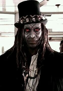 I like to make dolls sometimes, so here's one I'm working on of @lancereddick as Papa Legba from @AHSFX ✨🖤✨