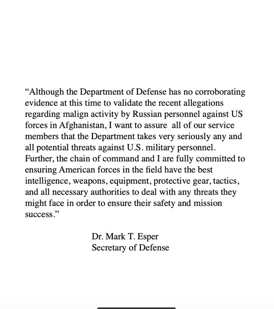 I want to assure all of our service members that we take seriously any and all potential threats against U.S. military personnel.