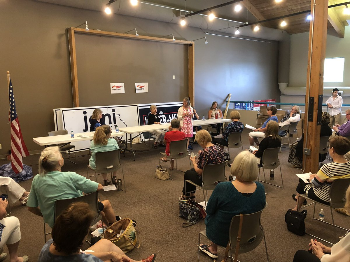 Great turnout for the Scott County Republican Women's meeting today!  These ladies are fired up and ready to flip this district red in November! #ia02