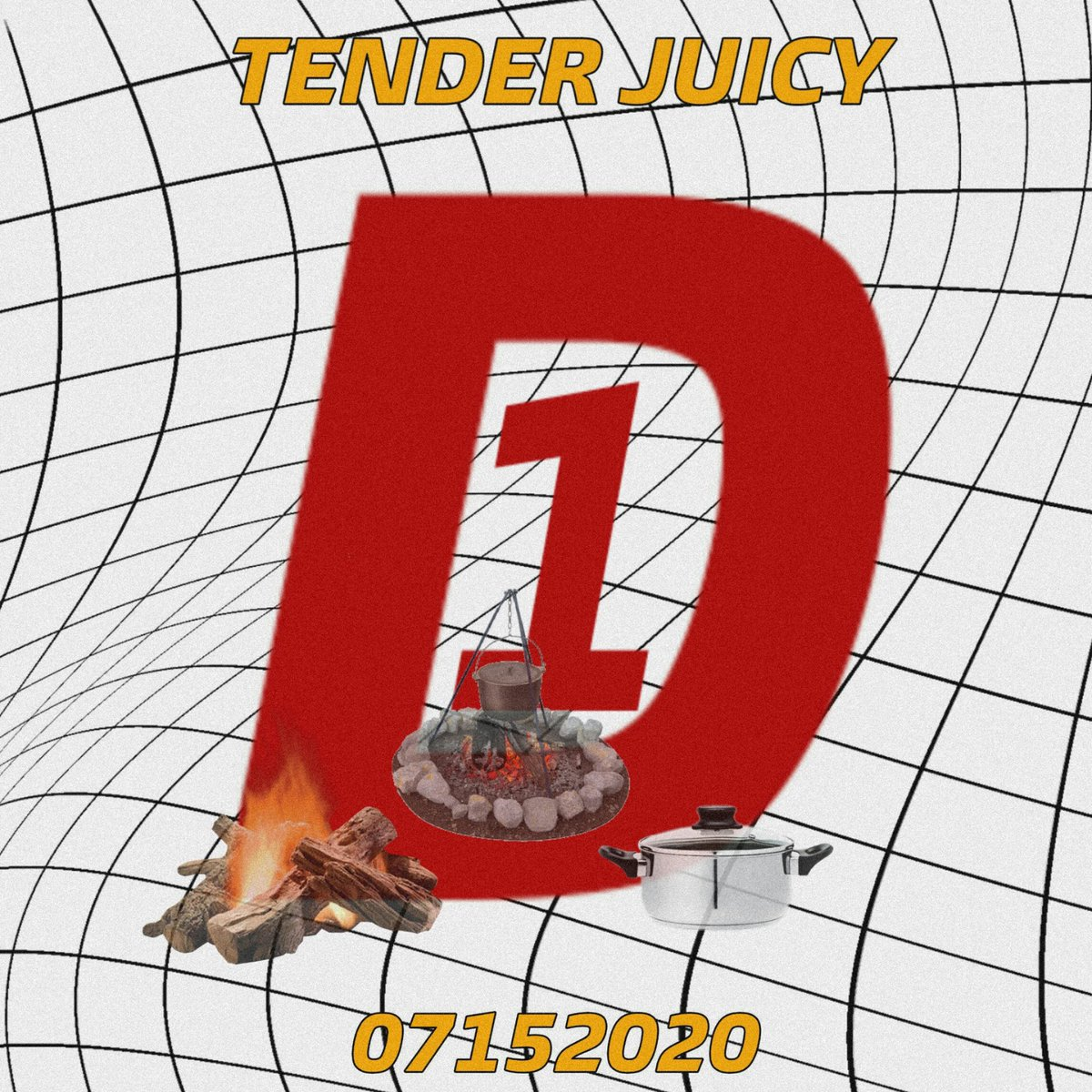 2 MONTHS WITH TENDER JUICY • D-1 POSTER  TJ Party ✅2020.07.15 (ALL DAY)  #TENDER_JUICY #2MonthsWithTJ  #D_1 #2020_0715 #SinigangNaHotdog