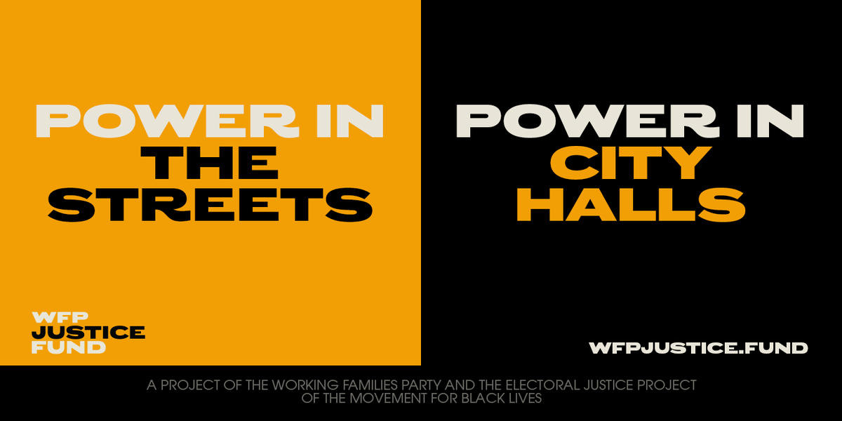 The #WFPJusticeFund is a new grassroots fund to defend elected officials and support bold new candidates who will fight to shift resources from policing to real community investments instead. Join as a founding donor now:
