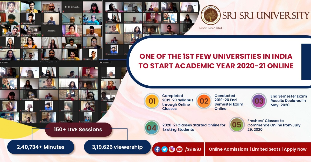 We are one of the few universities across the country to go completely online to provide education when #pandemic struck India. We continue to excel in our goal of providing the Best of East & West to our students via #LIVE classes as AY: 2020-21 commences.  #JoinSSU #LifeAtSSU