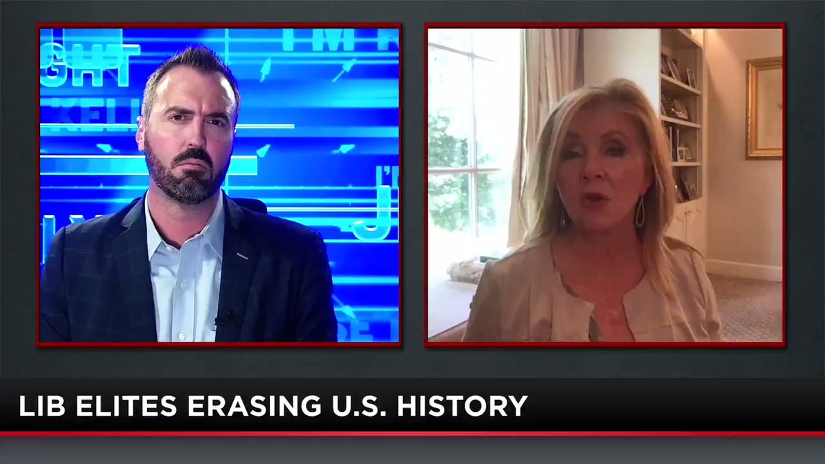 """U.S. Sen. @MarshaBlackburn (R-TN) joins @JesseKellyDC to break down the sad situation involving @Instagram blocking posts about a pro-America children's book that she co-authored with her daughter.  """"They want to make it something that it's never been..."""""""