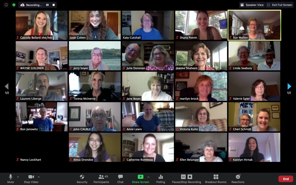 Thank you SO much to @JeanneShaheen for stopping by our Bedford Virtual House Party!! Look at all these incredible committed Democratic voters who are ready to #VoteFromHome this year!