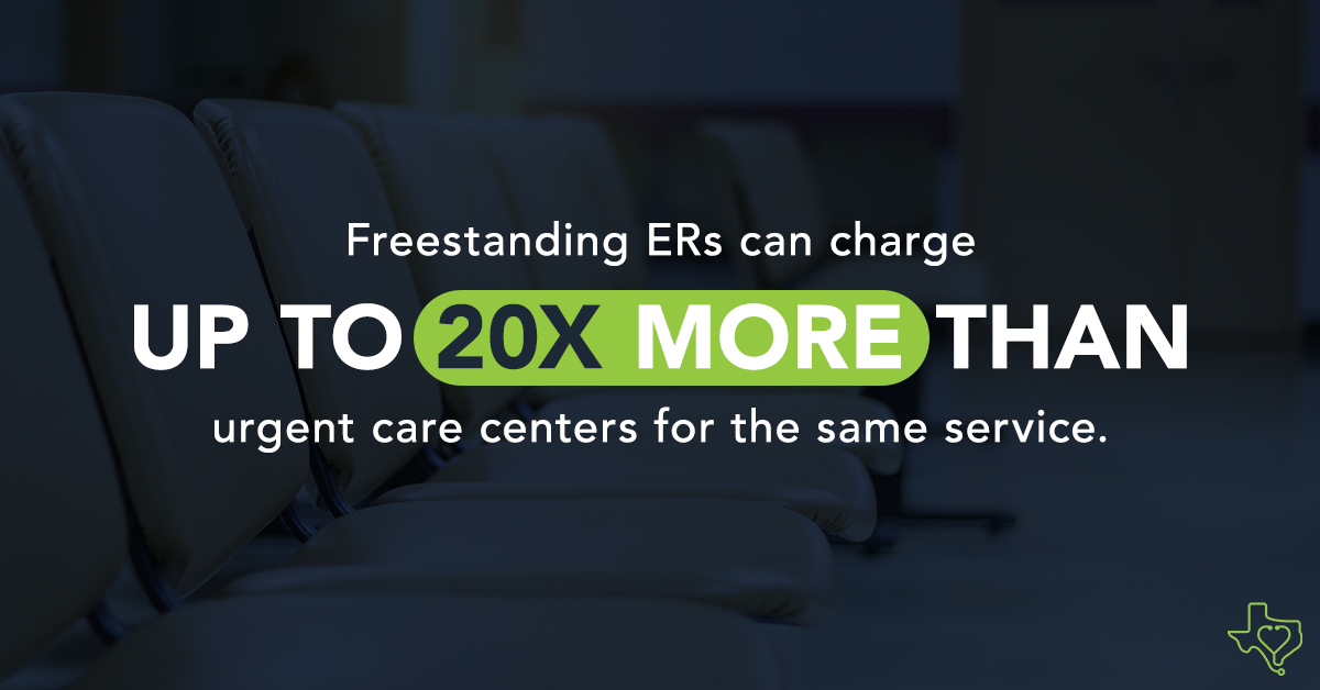#FreestandingERs look like urgent care centers but charge way more for the same services. Read more about Freestanding ER's here:  #txlege