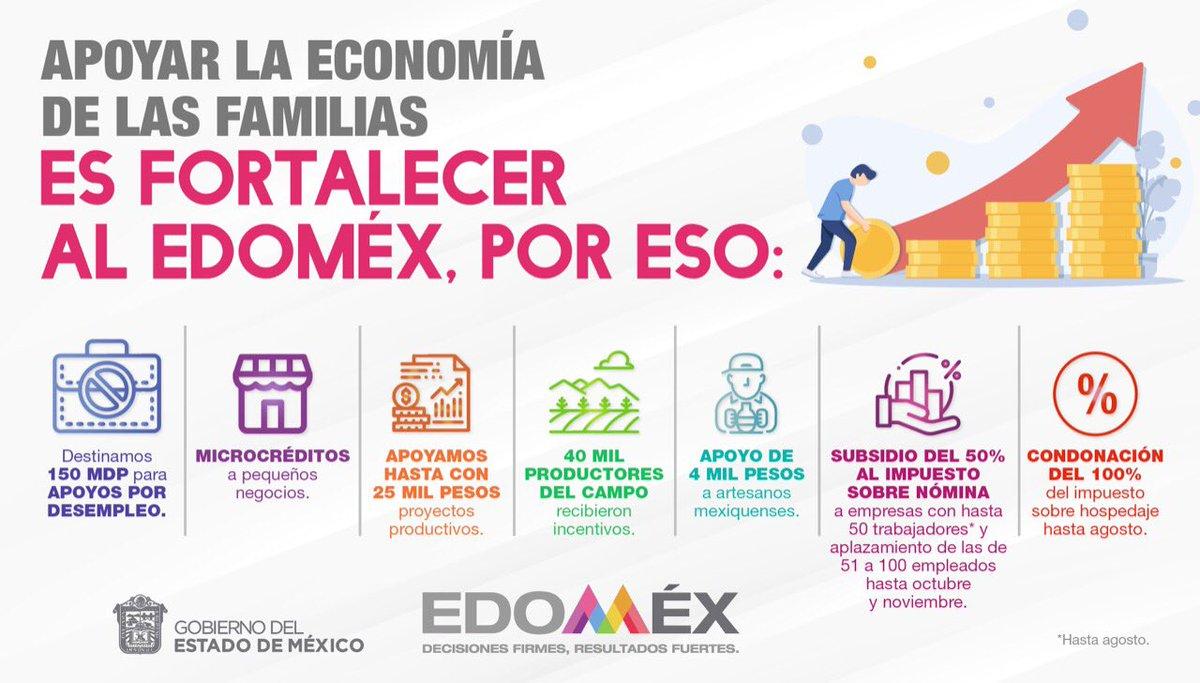 Con el paquete de #ApoyosEdomex estamos mitigando los daños económicos de #Covid-19 en las pequeñas empresas para conservar el empleo y dar un respiro a quienes lo perdieron o cerraron sus comercios. ¡Vamos bien y juntos vamos a salir de esta! #ApoyosParaElDesempleoEdomex