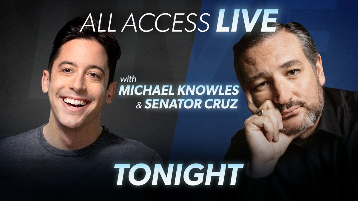Join @michaeljknowles and @tedcruz tonight on All Access Live! If you are not an All Access member, get 10% off with coupon code: Knowles! Join here: