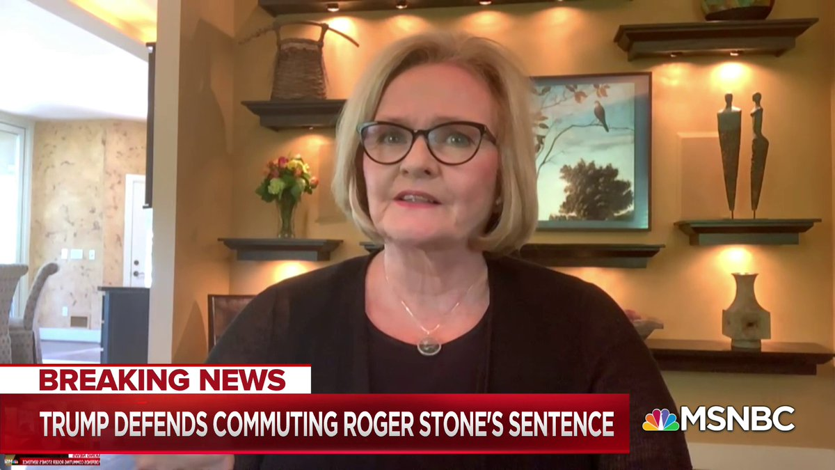 """""""We are learning that when you are this bad, it's like walking on a bed of nails. How you don't feel the individual nails because they're all so damn sharp. And I think the country has gotten way too numb to the level of scandal..."""" - @clairecmc w/ @NicolleDWallace"""