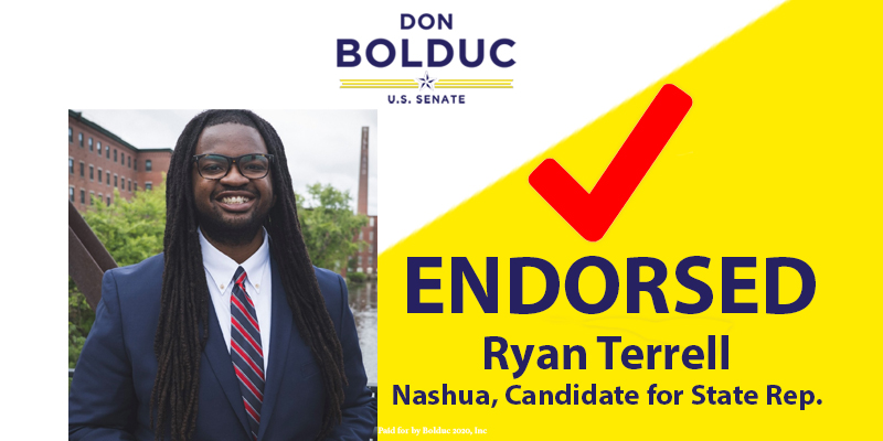 Endorsed!  Proud to have the endorsement of Ryan Terrell.  Thank you - I will work for you!  #nhpolitics #nhsen
