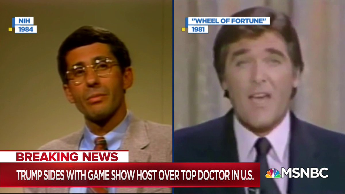 """WATCH: As Trump now amplifies former game show host Chuck Woolery's conspiracy theory over Dr. Fauci's factual information, watch what the host of """"Love Connection"""" was doing while Fauci was finding a cure for AIDS."""